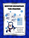 Winter Snowman Ten Frames