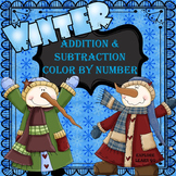 Snowman / Winter Themed Math Color by Number / Addition an
