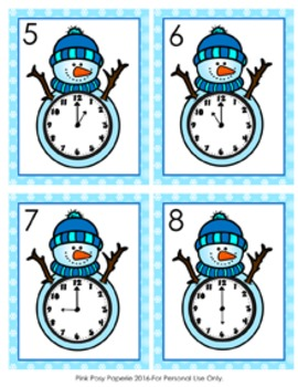 Winter Snowman Time to the Hour Hunt the Room