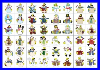 Winter Math:  Snowman Fact Families for Addition and Subtraction
