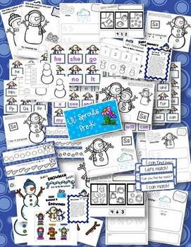 Winter Snowman Unit - Pre-K/PreK/Kindergarten/Preschool