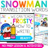Winter Snowman Writing Activities for PowerPoint & Google