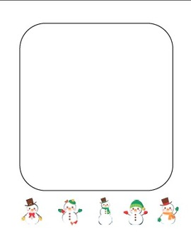 """Winter Snowman"" Writing Sheets – Common Core  (color & black line)"