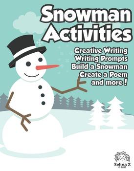 Winter Snowman Writing and Math Bundle!