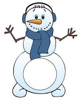 Winter - Snowman center