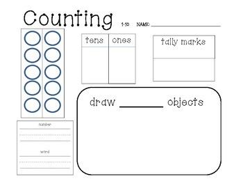 Math - write it - tally it - draw it