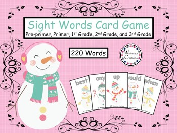 Winter Snowmen 220 Sight Words