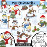 Winter Snowmen Clip Art - Winter Wonderland Series