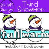 Winter Snowmen Clipart - Dolch Third Sight Word Clip Art