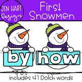 Winter Snowmen Clipart - Dolch First Sight Word Clip Art