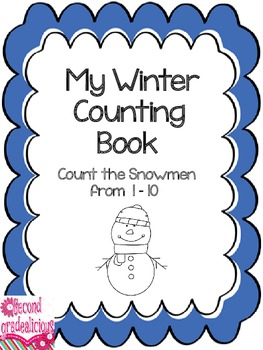 Winter Snowmen Counting Booklet Numbers 1 to 10