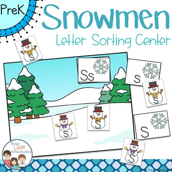 Winter Snowmen Letter Sorting Center