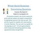 Winter Social Scenarios: Formulating Questions