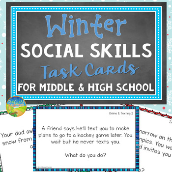 Winter Social Skills Task Cards for Middle and High School