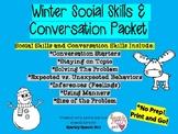 Winter Social Skills and Conversation Skills Packet No Pre