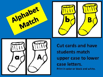 Winter Sock Alphabet Match