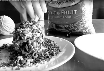 Winter Solstice Activities - Video Tutorial for Making a Pine Cone Bird Feeder