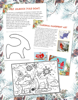 Winter Solstice / Holiday Activity Packet