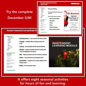 Winter Solstice - Free Sample from the December Independent Learning Module ILM