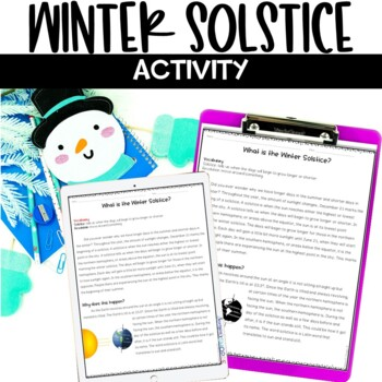 Winter Solstice Nonfiction Article and Snowflake Activity