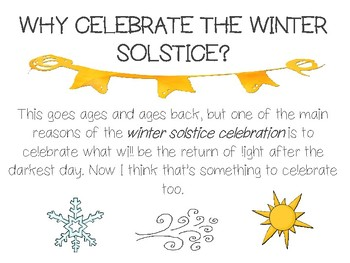 Winter Solstice Presentation and Craftivity