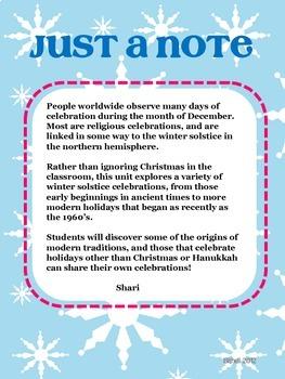 Christmas Around the World:  Winter Solstice- Ancient/Modern Holidays