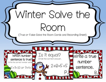 Winter Solve the Room {True or False}