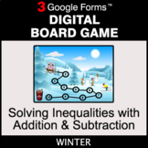 Winter: Solving Inequalities with Addition & Subtraction -