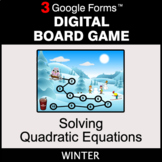 Winter: Solving Quadratic Equations - Digital Board Game  