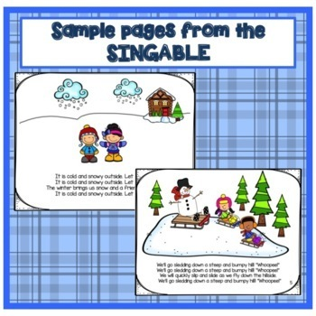 Winter Movement Song! Buddy the Snowman -  Shared Reading Singable