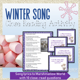Winter Song Close Read Activity