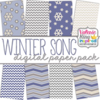 Winter Song Digital Paper Pack