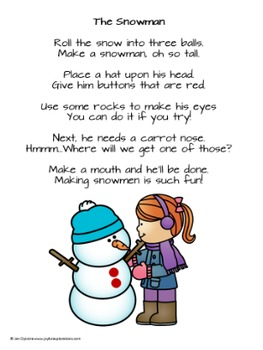Winter Songs, Poems and Flannel Board Activities