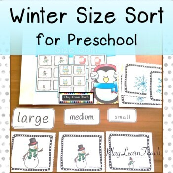 Winter Sort by Size for Special Education Early Childhood
