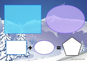 Winter Sort, Count, and Add Math Snowflake Activity