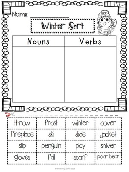 Winter Sorts NO PREP Printables