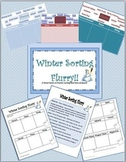 Winter Sorting Flurry (PowerPoint, Printables, Parts of Speech, game, addition)