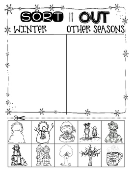 Winter Sorting T-Chart
