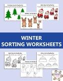 Winter Sorting Worksheets