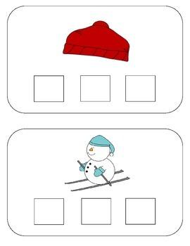 Winter Sound Boxes {Phoneme Segmentation Activity}