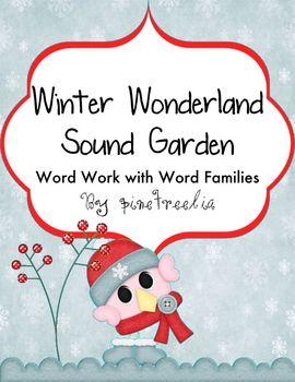 Winter Sound Garden {Word Families, Short Vowel  Blending, Beginning Blends}
