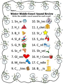 Winter Sounds Review (Beginning, Middle, and End)