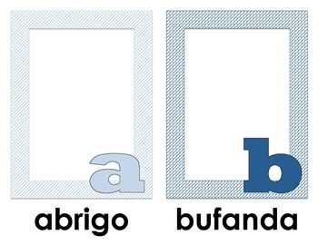 Winter Spanish Alphabet