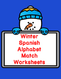 Winter Spanish Alphabet Match:  Cut and Paste Worksheets