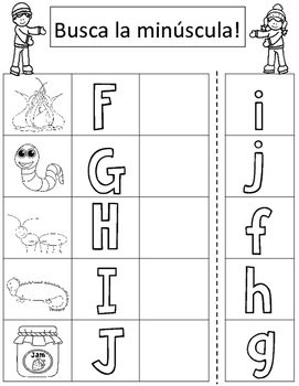 winter spanish alphabet match cut and paste worksheets tpt. Black Bedroom Furniture Sets. Home Design Ideas