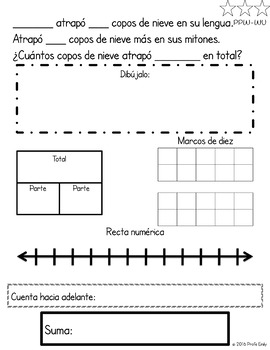 Winter Spanish Bilingual Word Problems (CGI)