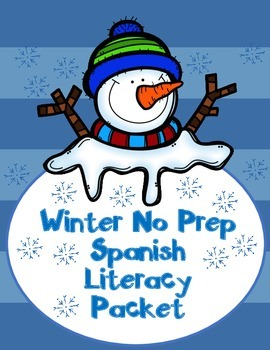 Winter SPANISH Literacy Centers:  Invierno No Prep 104 pages