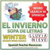 Winter Spanish Word Search - El Invierno - Sopa de Letras
