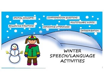 Winter Speech/Language Activity Pack