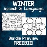Winter Speech and Language FREEBIE Activities